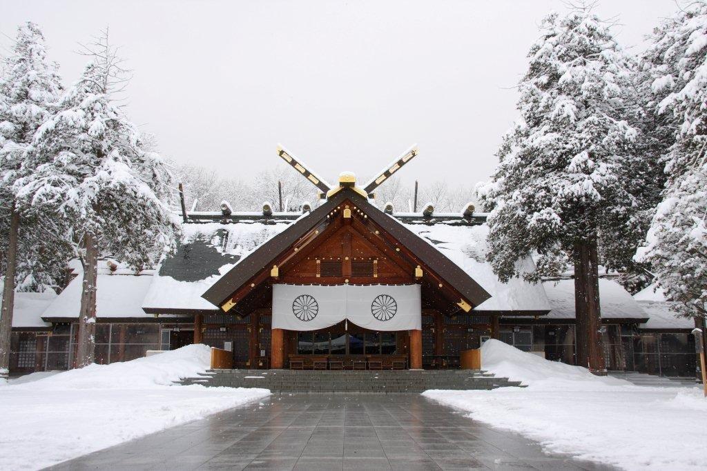 Hokkaido Jingu snow